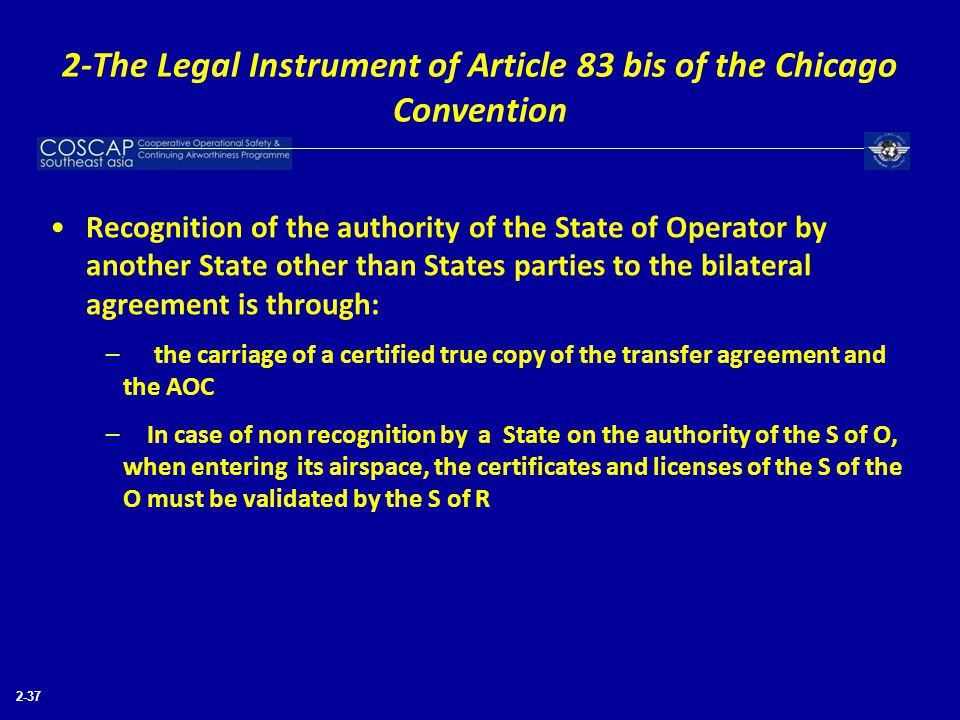2-The Legal Instrument of Article 83 bis of the Chicago Convention
