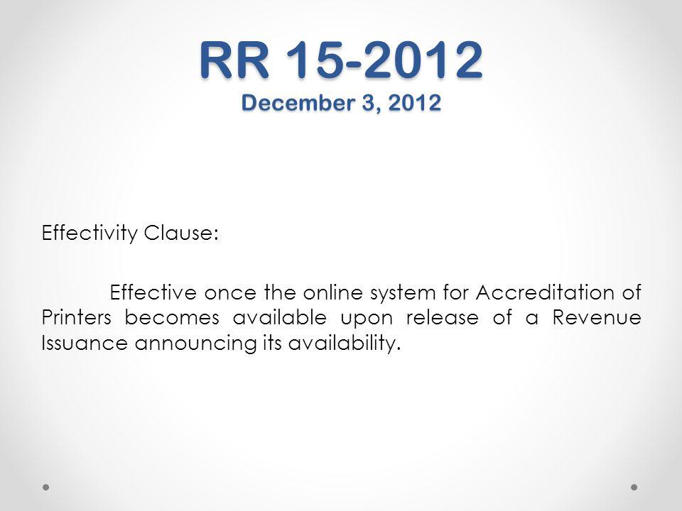 RR 15-2012 December 3, 2012