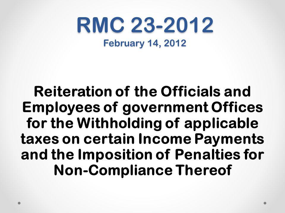 RMC 23-2012 February 14, 2012