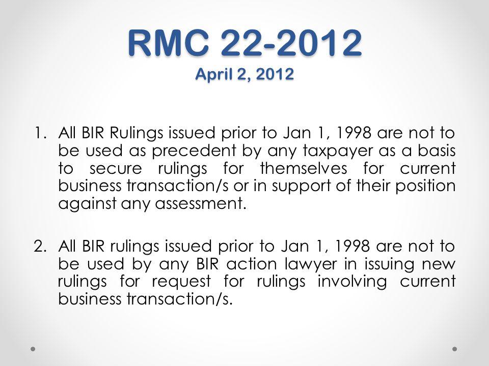 RMC 22-2012 April 2, 2012