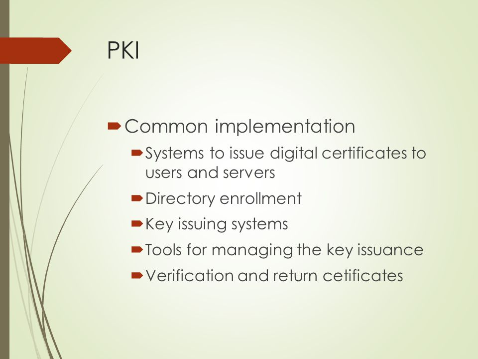 PKI Common implementation