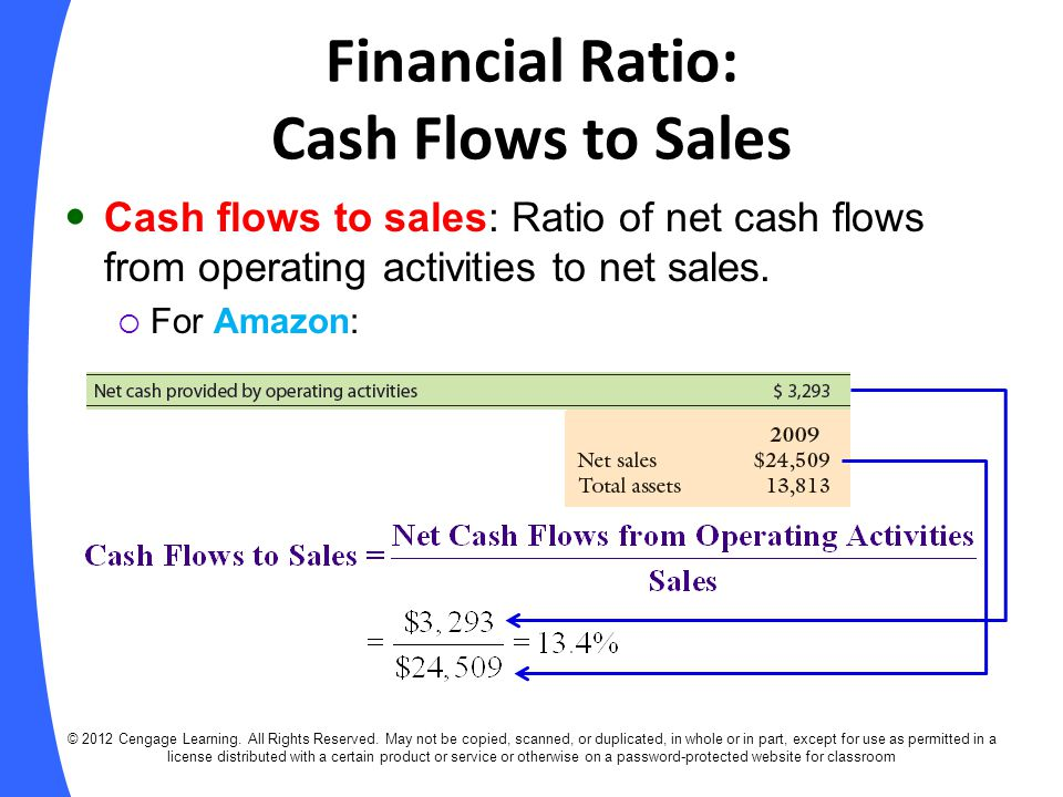 Financial Ratio: Cash Flows to Sales
