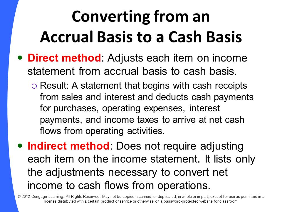 Converting from an Accrual Basis to a Cash Basis
