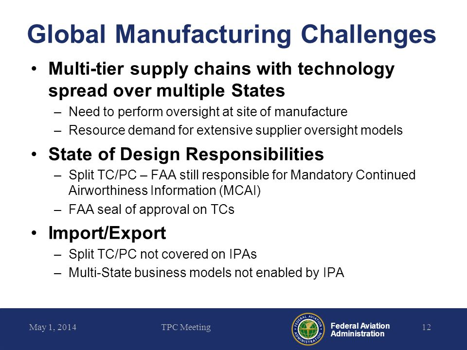 Global Manufacturing Challenges