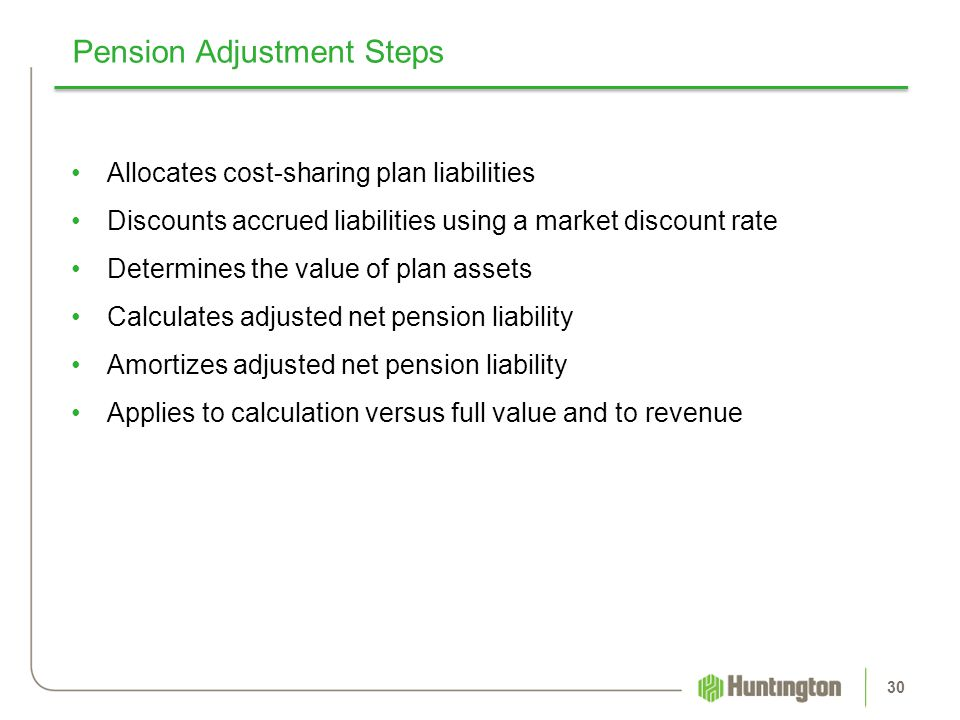 Pension Adjustment Steps