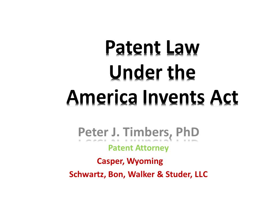 Patent Law Under the America Invents Act