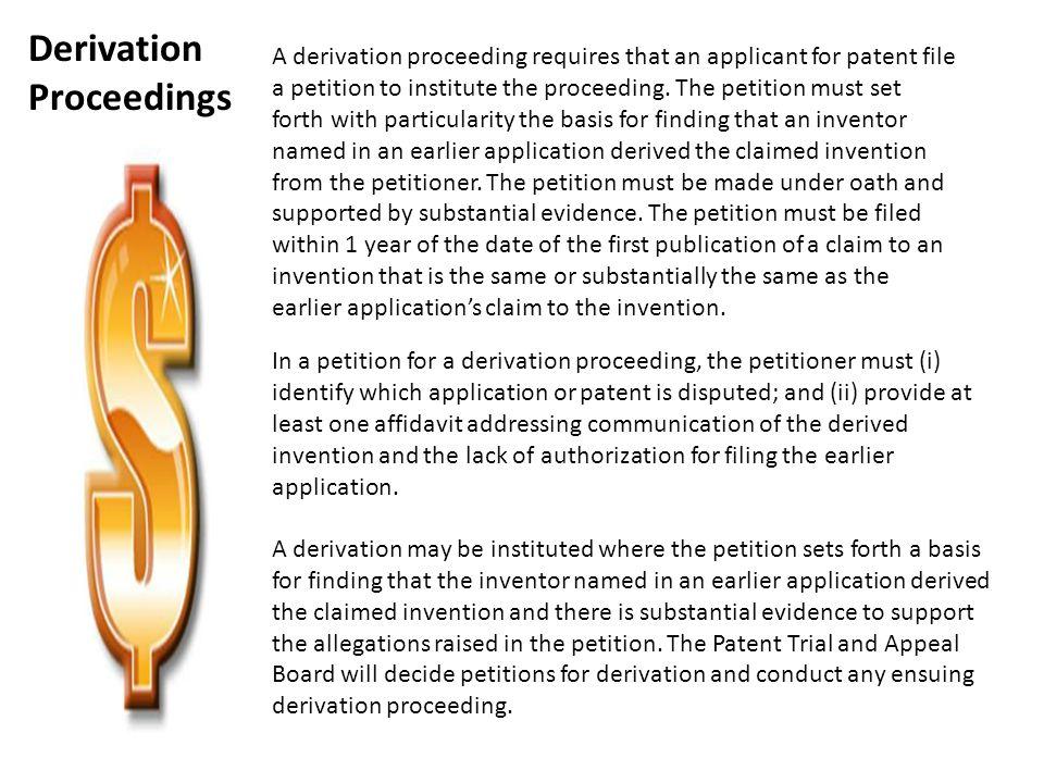 Derivation Proceedings