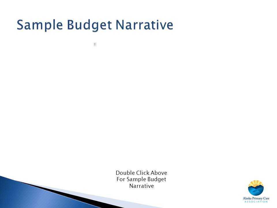 Sample Budget Narrative
