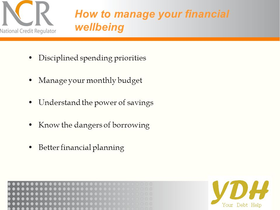 How to manage your financial wellbeing