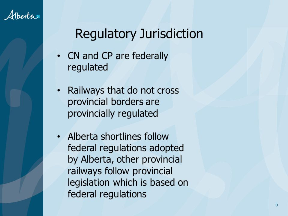 Regulatory Jurisdiction