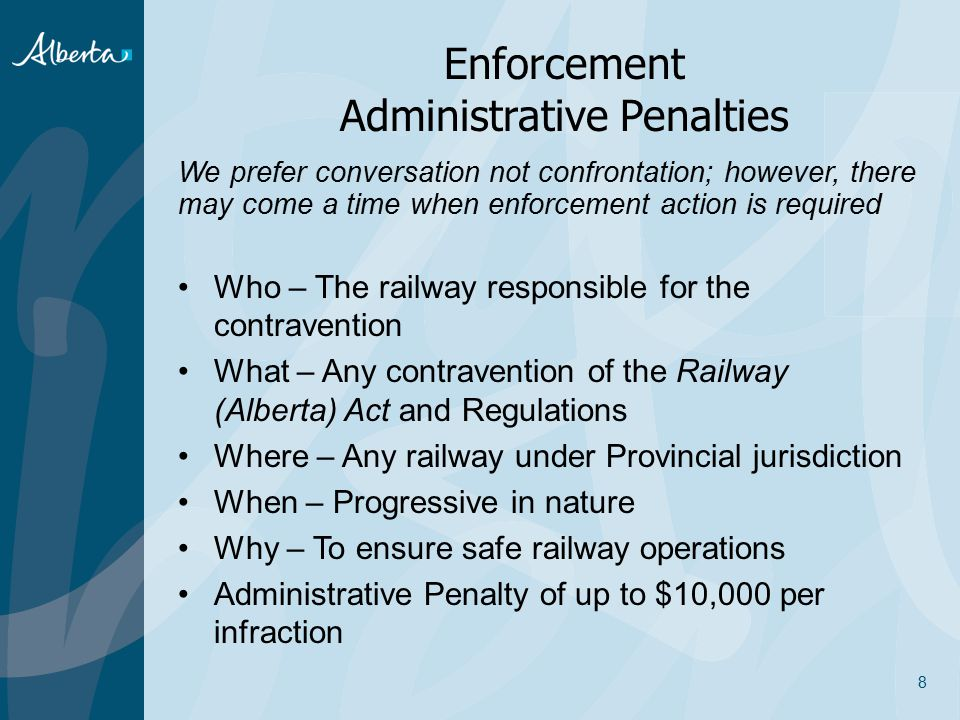 Enforcement Administrative Penalties