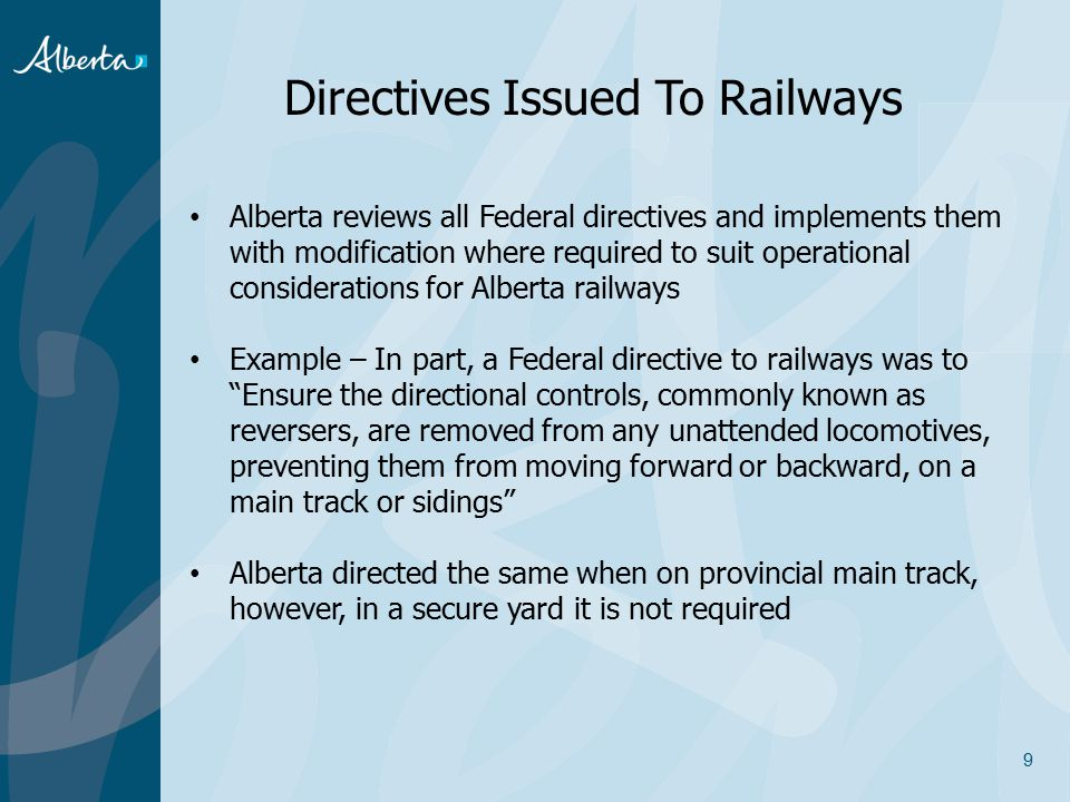 Directives Issued To Railways