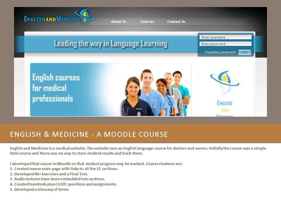 English & Medicine - A Moodle Course