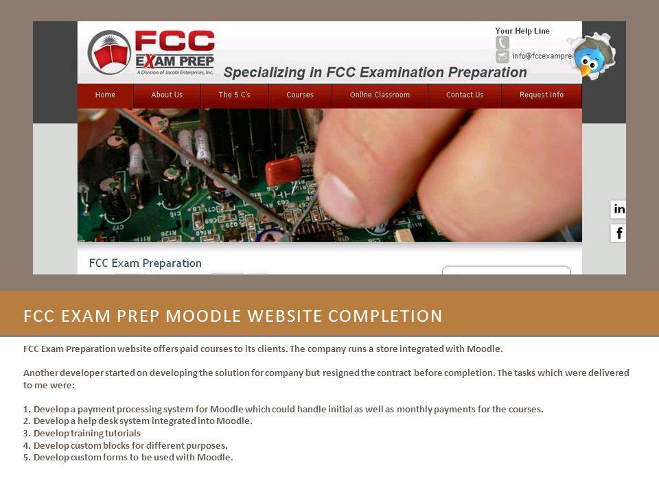 FCC Exam Prep Moodle Website Completion
