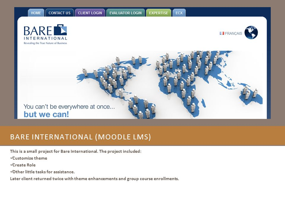 Bare International (Moodle LMS)