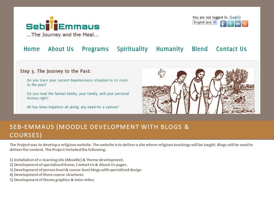 Seb-Emmaus (Moodle Development with Blogs & Courses)