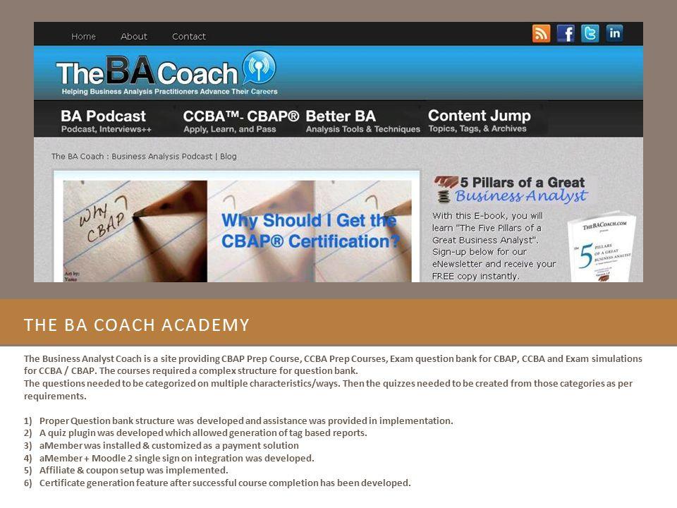The ba coach academy