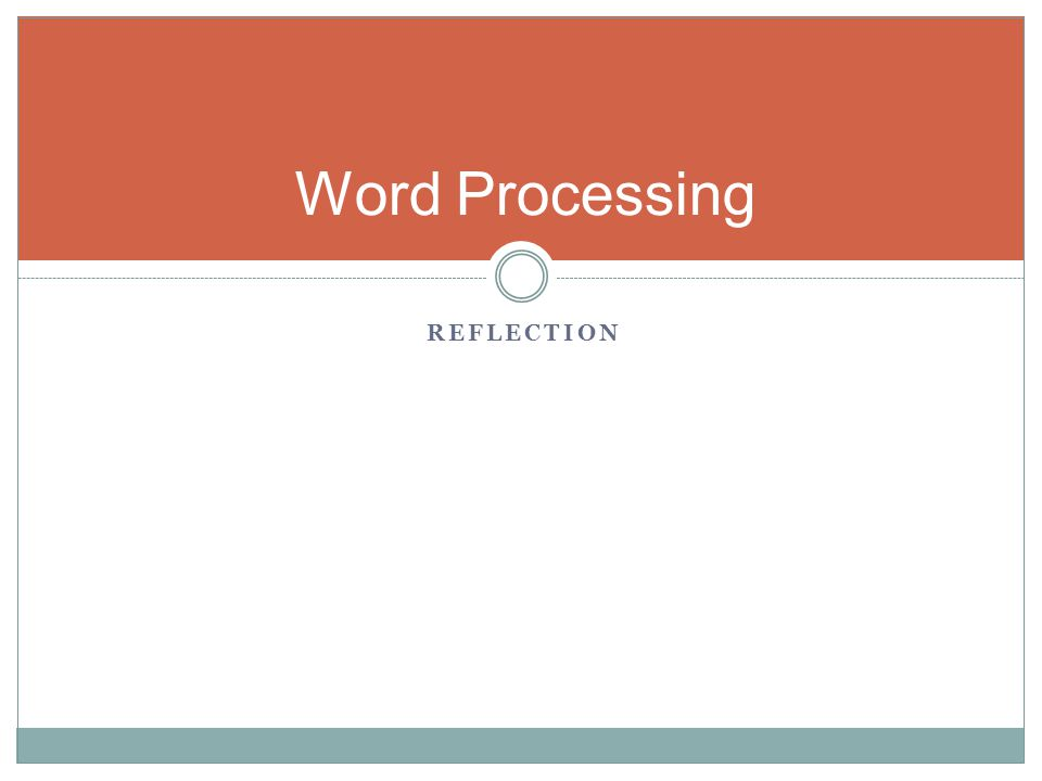 Word Processing Reflection Typewriter sound