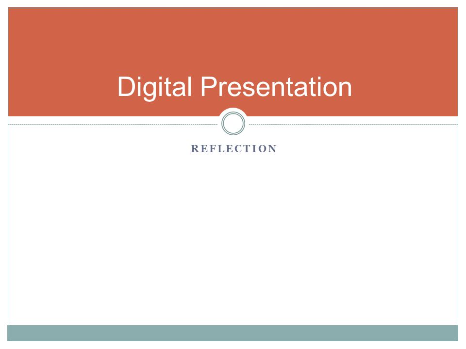 Digital Presentation Reflection Camera Sound