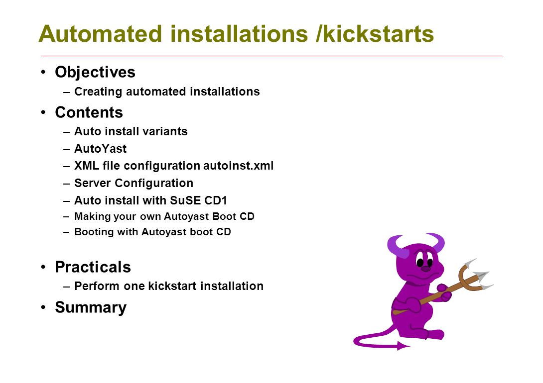 Automated installations /kickstarts