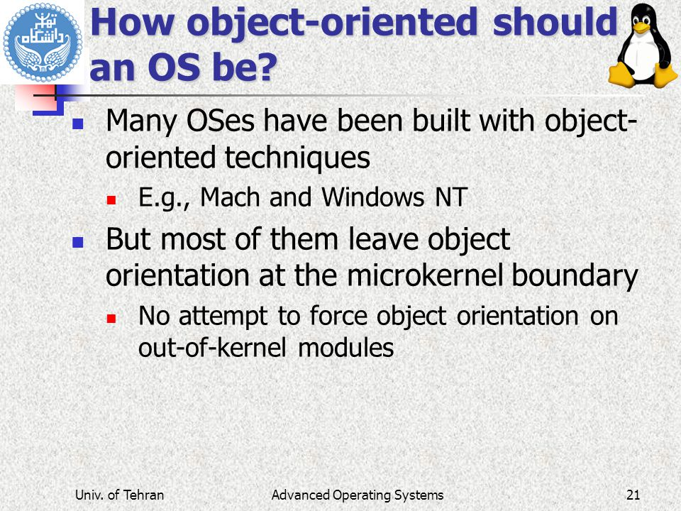 How object-oriented should an OS be