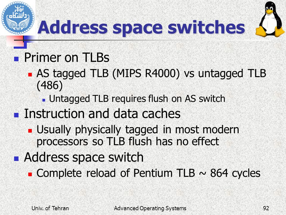 Address space switches
