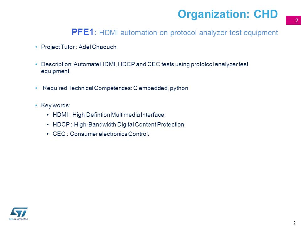 Organization: CHD PFE1: HDMI automation on protocol analyzer test equipment