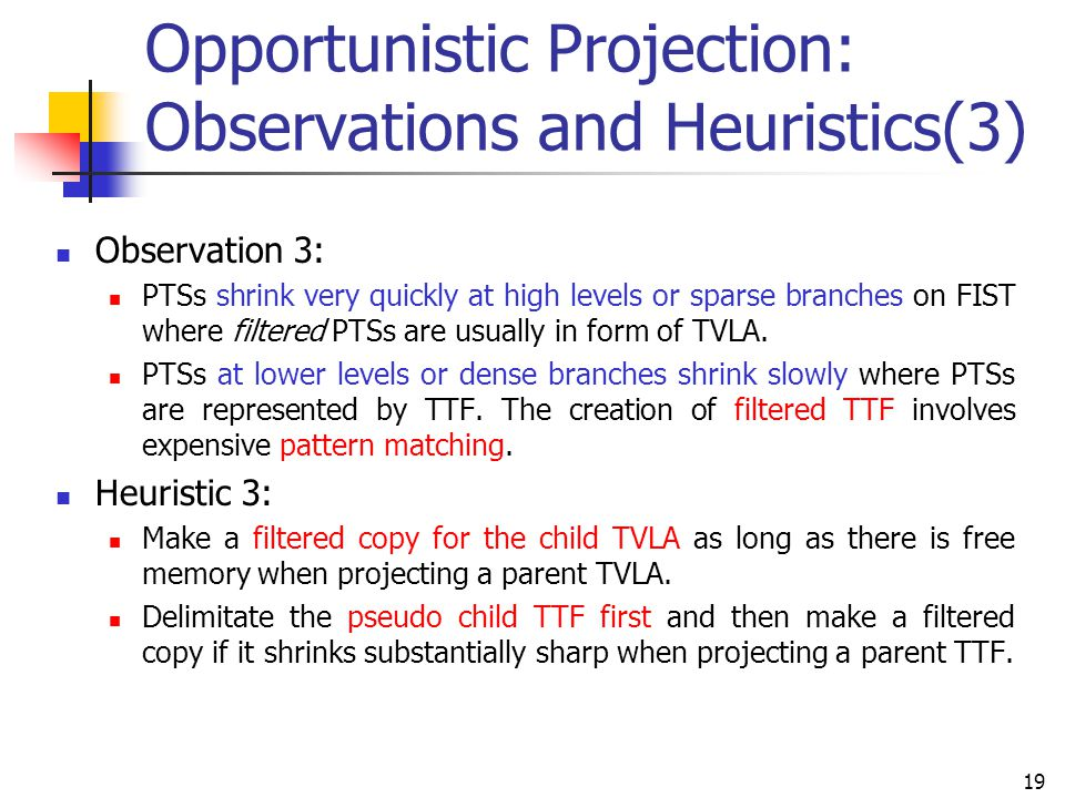 Opportunistic Projection: Observations and Heuristics(3)