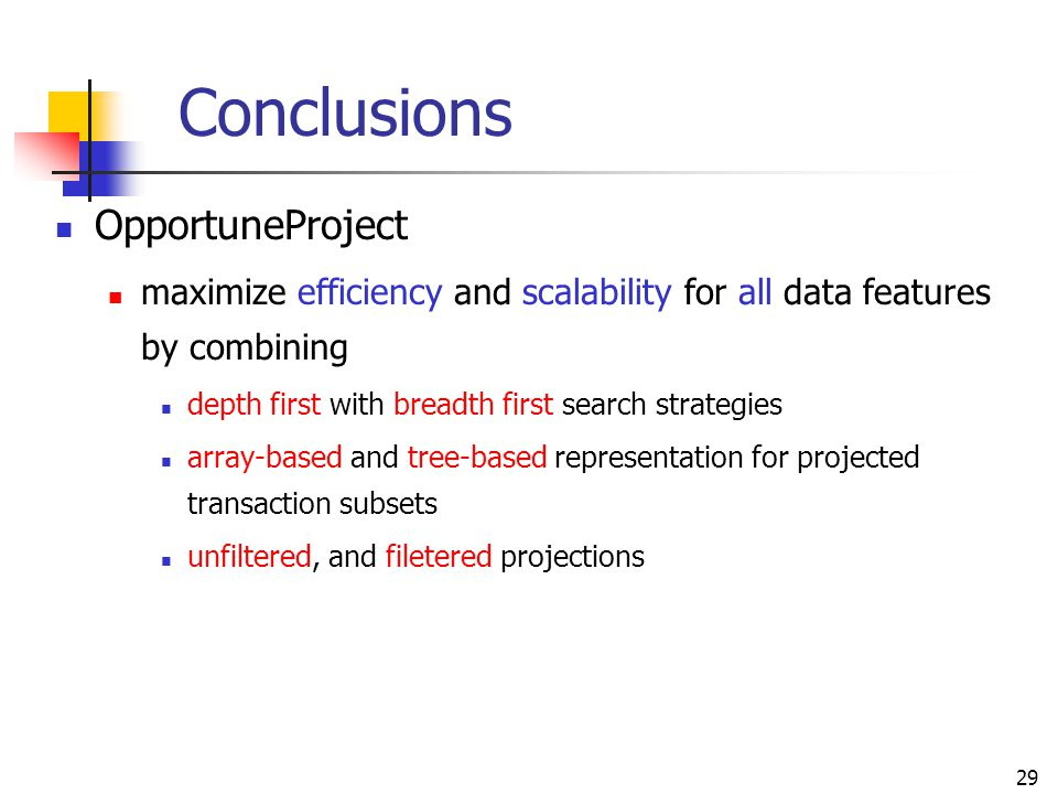 Conclusions OpportuneProject