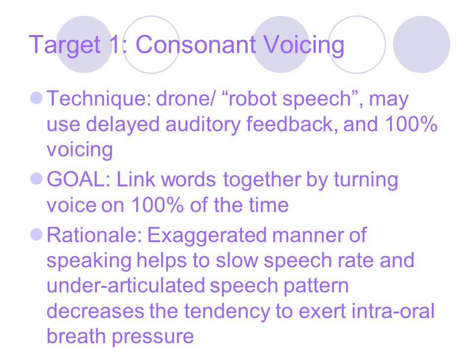 Target 1: Consonant Voicing