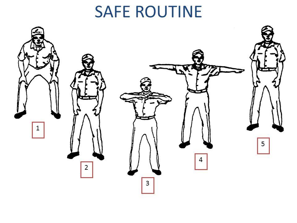 SAFE ROUTINE 1 5 4 2 3