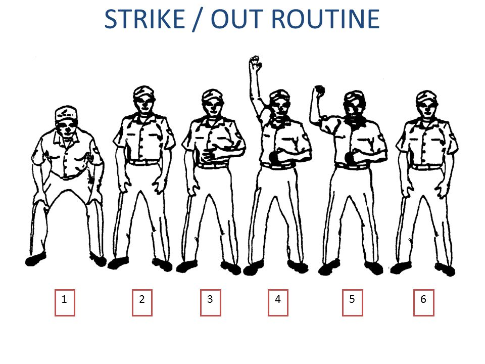 STRIKE / OUT ROUTINE 1 2 3 4 5 6