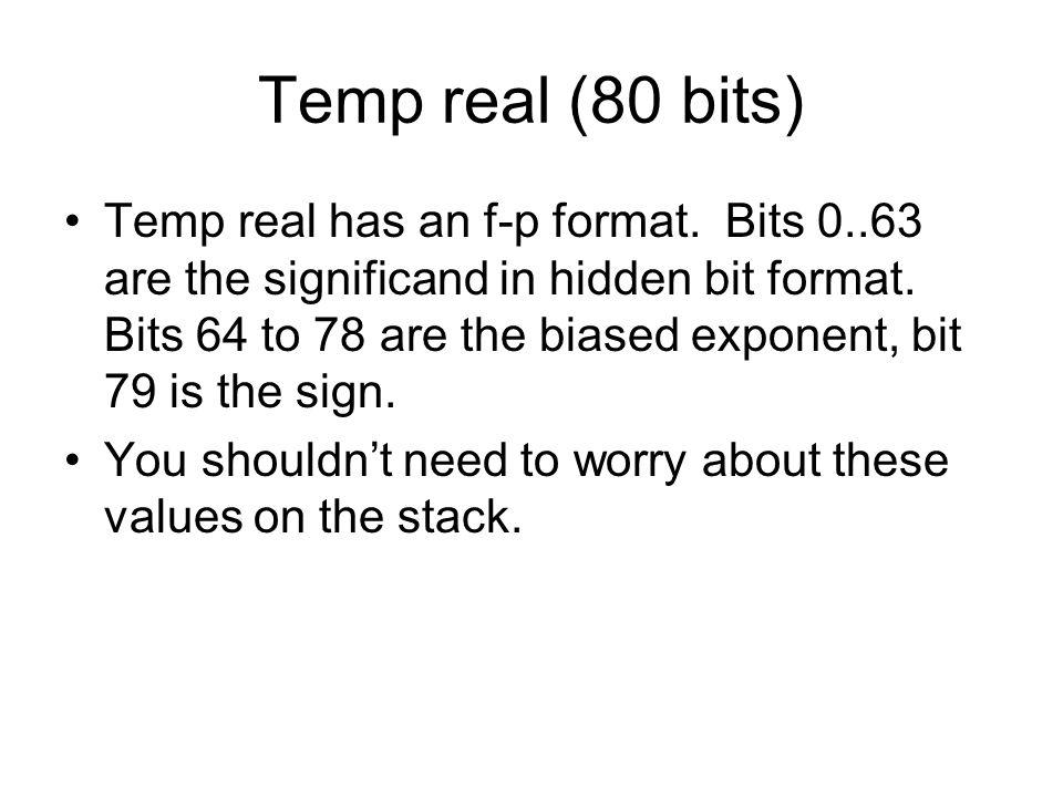 Temp real (80 bits)