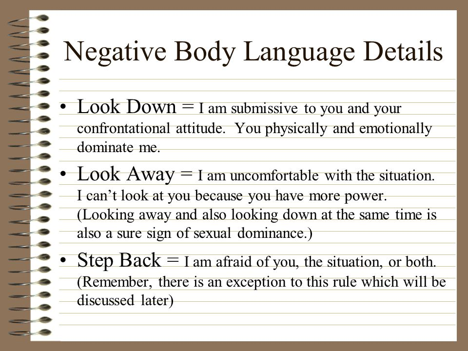 Body Language in Confrontational Situations - ppt download