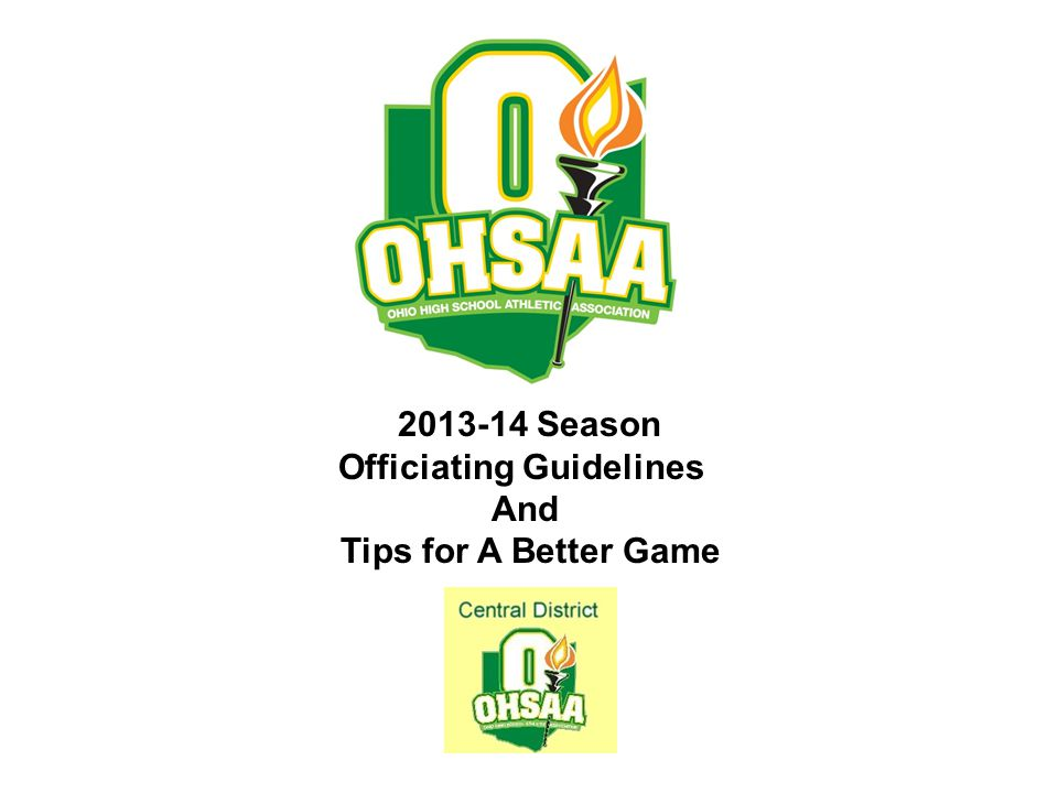 Officiating Guidelines
