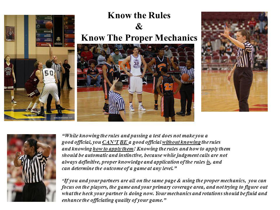 Know The Proper Mechanics
