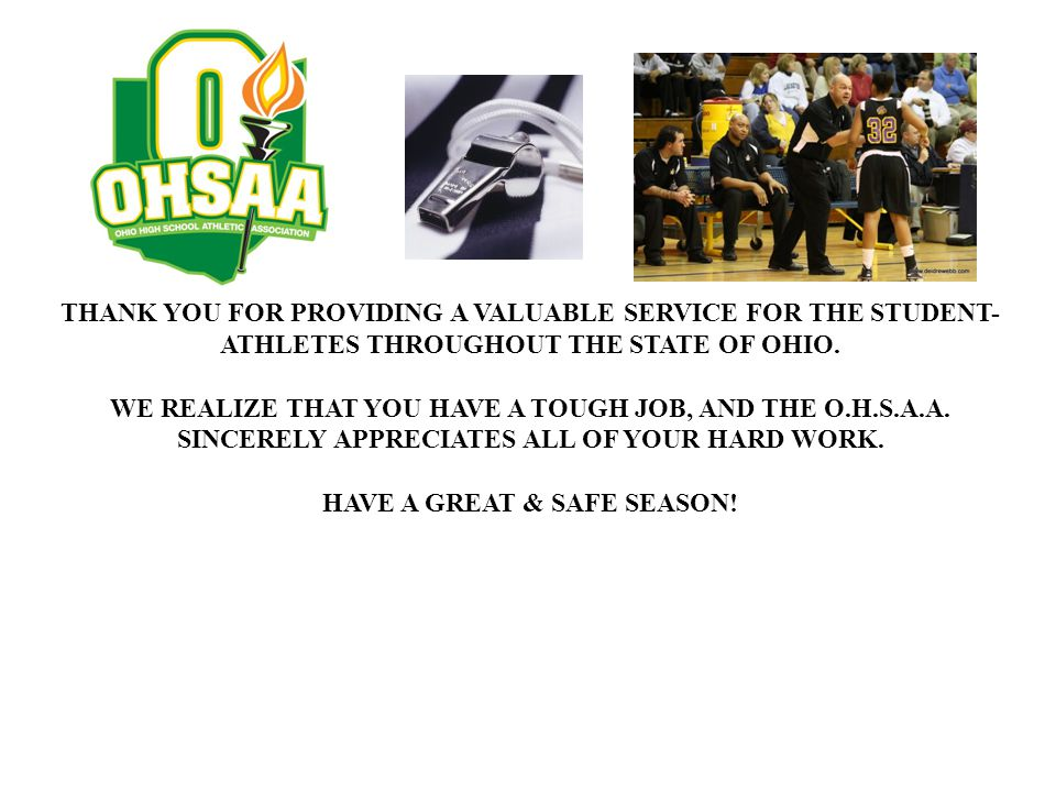 HAVE A GREAT & SAFE SEASON!