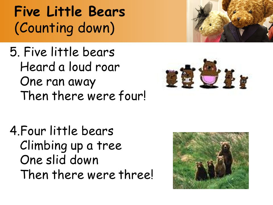 Five Little Bears (Counting down)