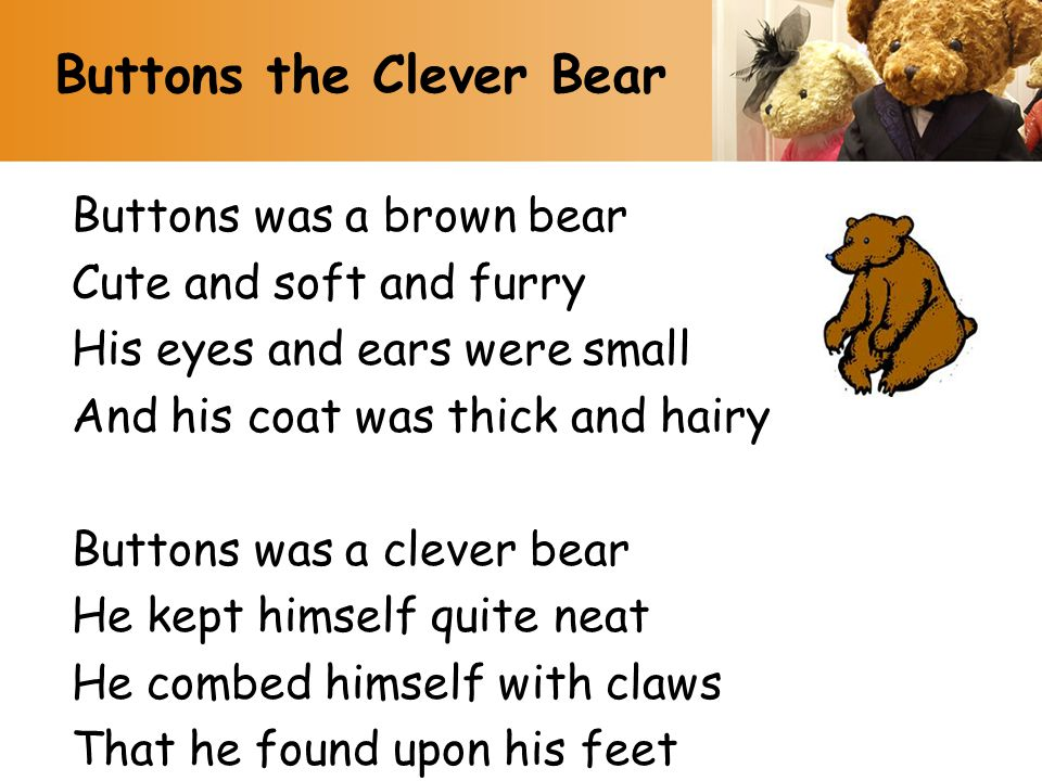 Buttons the Clever Bear