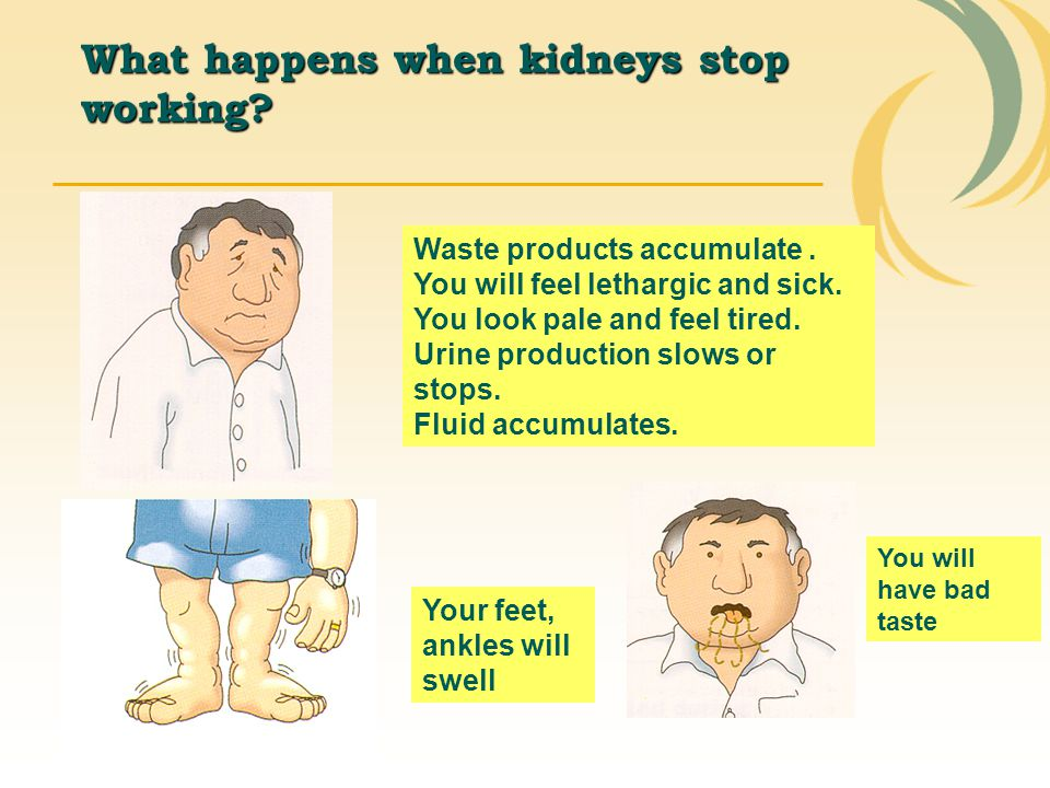 What happens when kidneys stop working