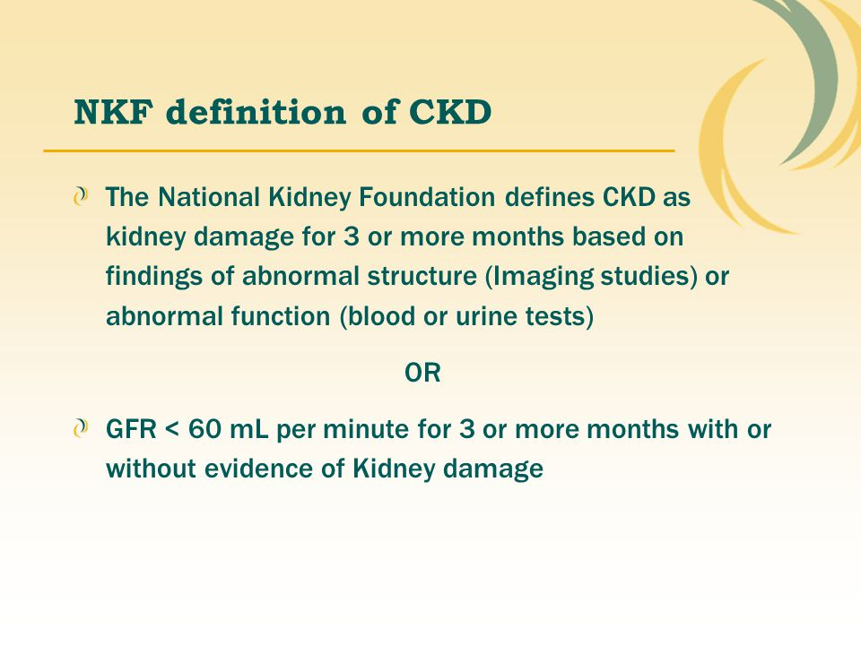 NKF definition of CKD