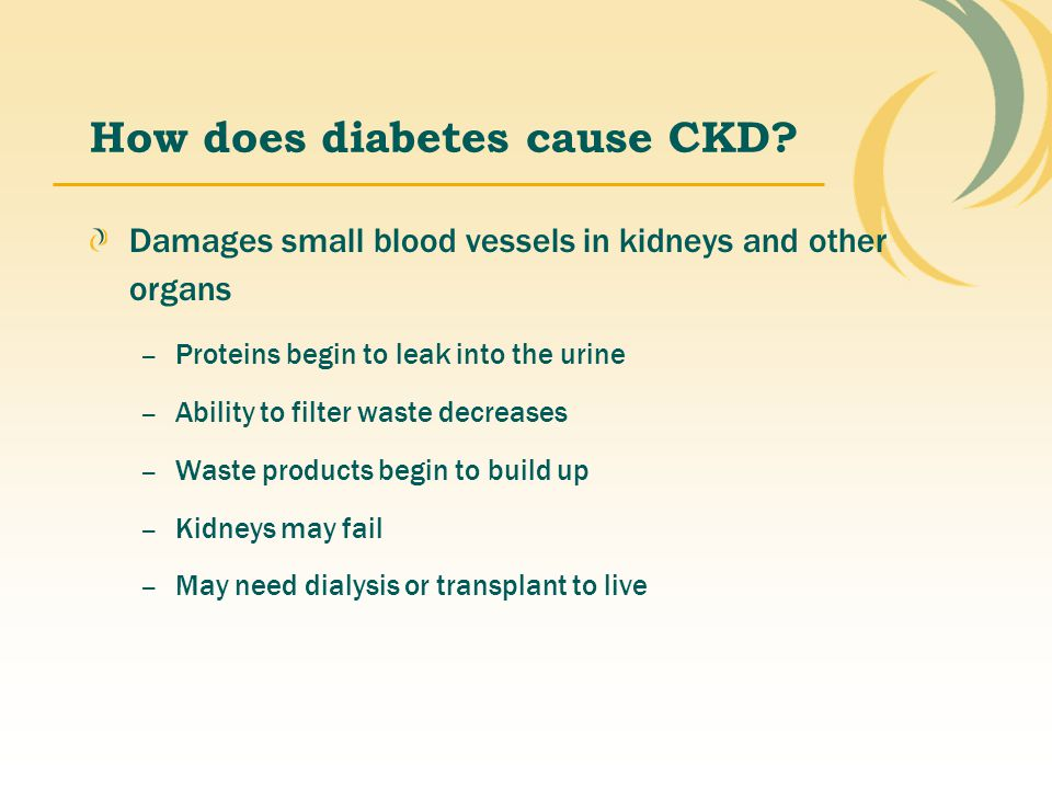 How does diabetes cause CKD