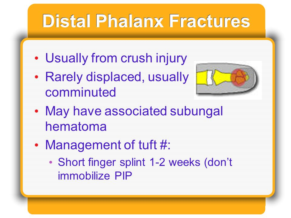 Distal Phalanx Fractures