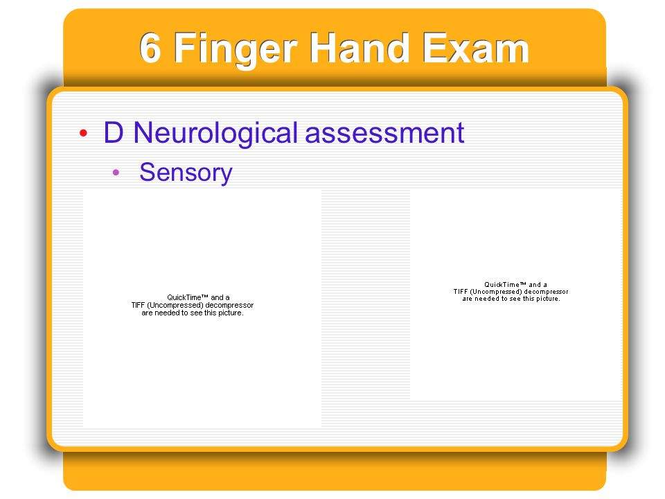 6 Finger Hand Exam D Neurological assessment Sensory