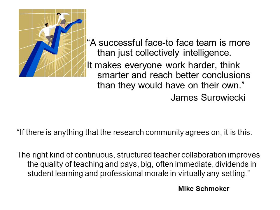 A successful face-to face team is more than just collectively intelligence.