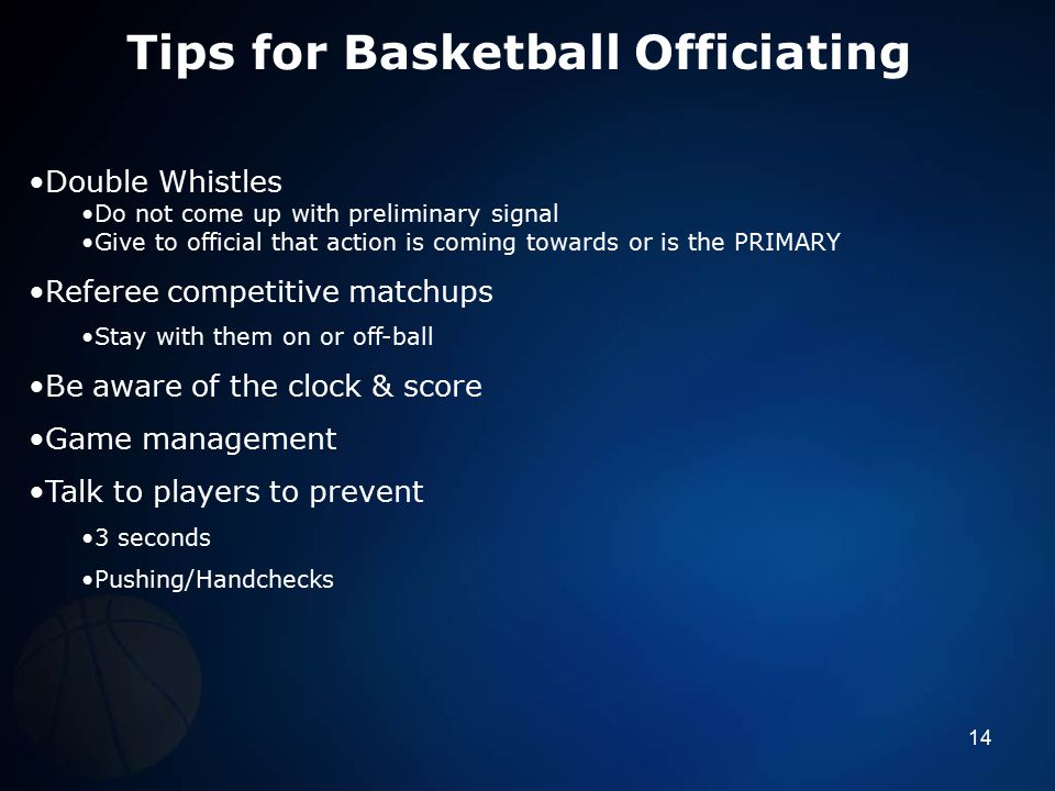 Tips for Basketball Officiating