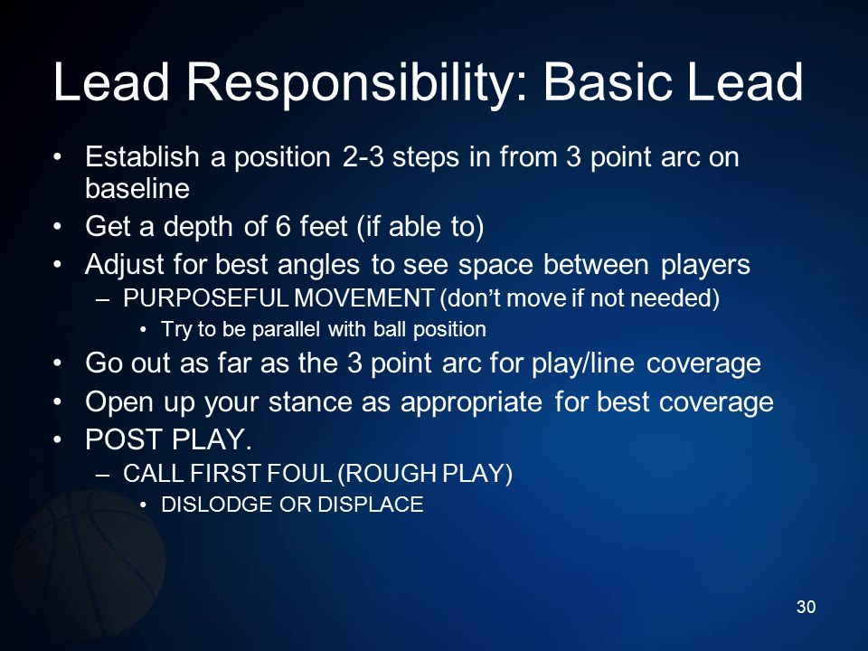 Lead Responsibility: Basic Lead