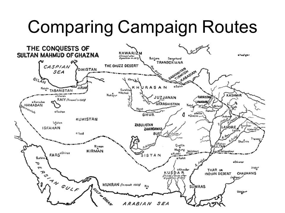 Comparing Campaign Routes