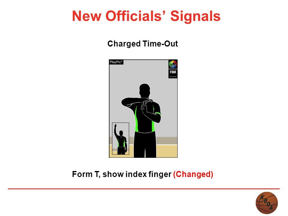 New Officials' Signals