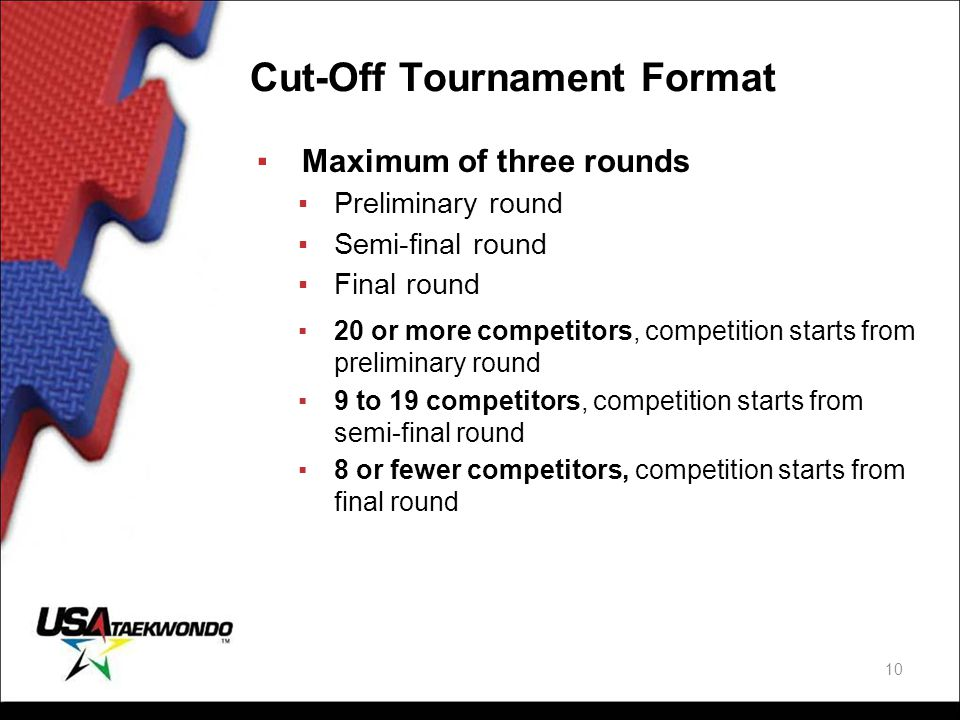Cut-Off Tournament Format